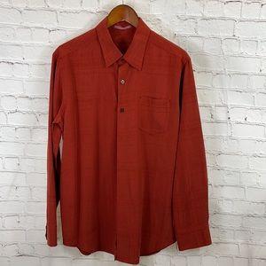 Tommy Bahama  Red/Orange Silk Men Button Down Sz M